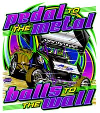 Pedal to the Metal Sprint Car Front